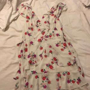 Express White and Hot Pink Floral Dress Size 4